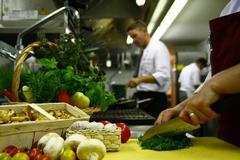 In unser Küche werden regionale frische Produkte verarbeitet