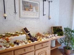 Dessert-Ecke zum Bunten Herbst-Brunch in der Köhlerhütte
