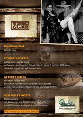 Das Western-Menü zur Dinner Show Miss Sally mischt den Westen auf