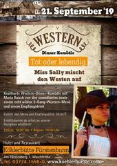 Western-Dinner-Show in der Köhlerhütte Waschleithe